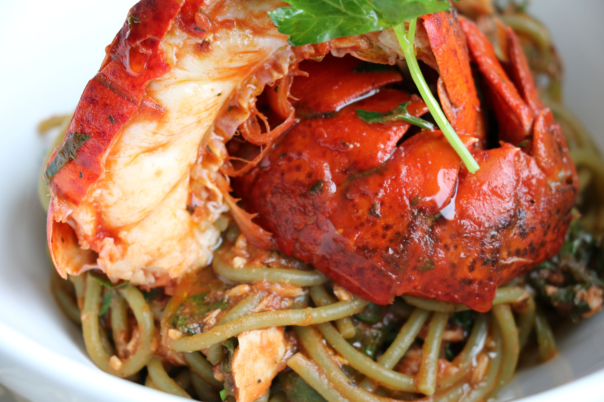 ... Spaghetti with Lobster and Spicy Tuna Tomato Sauce - Fangalicious