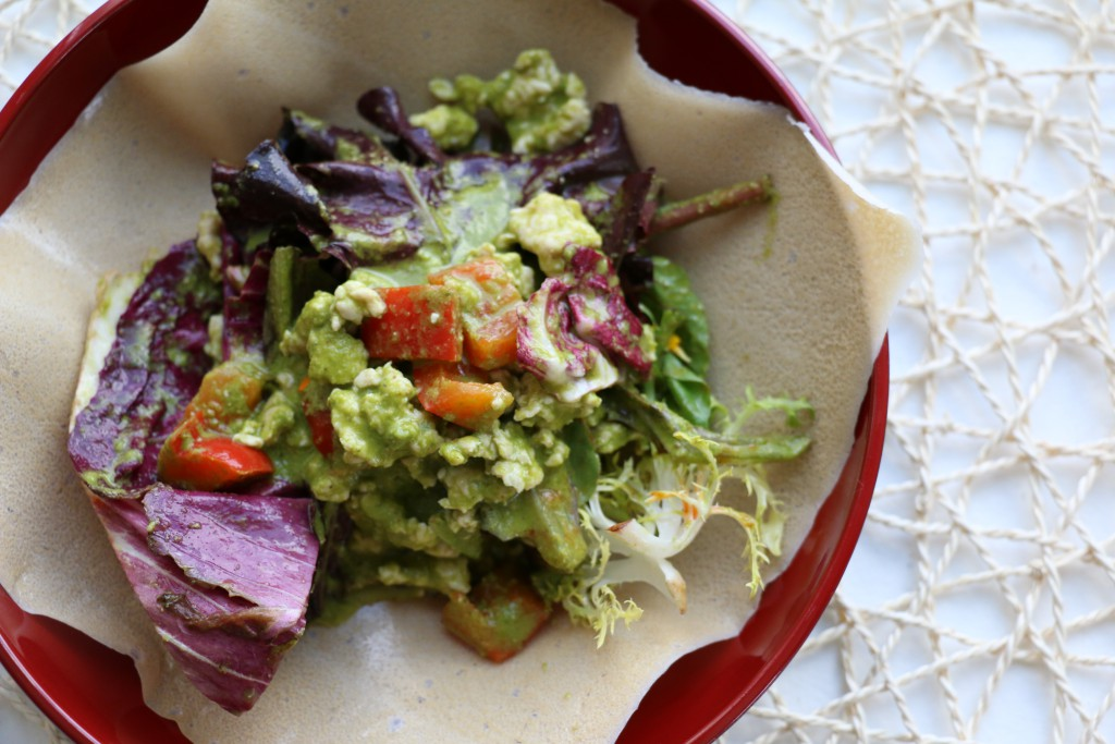 Paleo Cilantro Chicken Wraps
