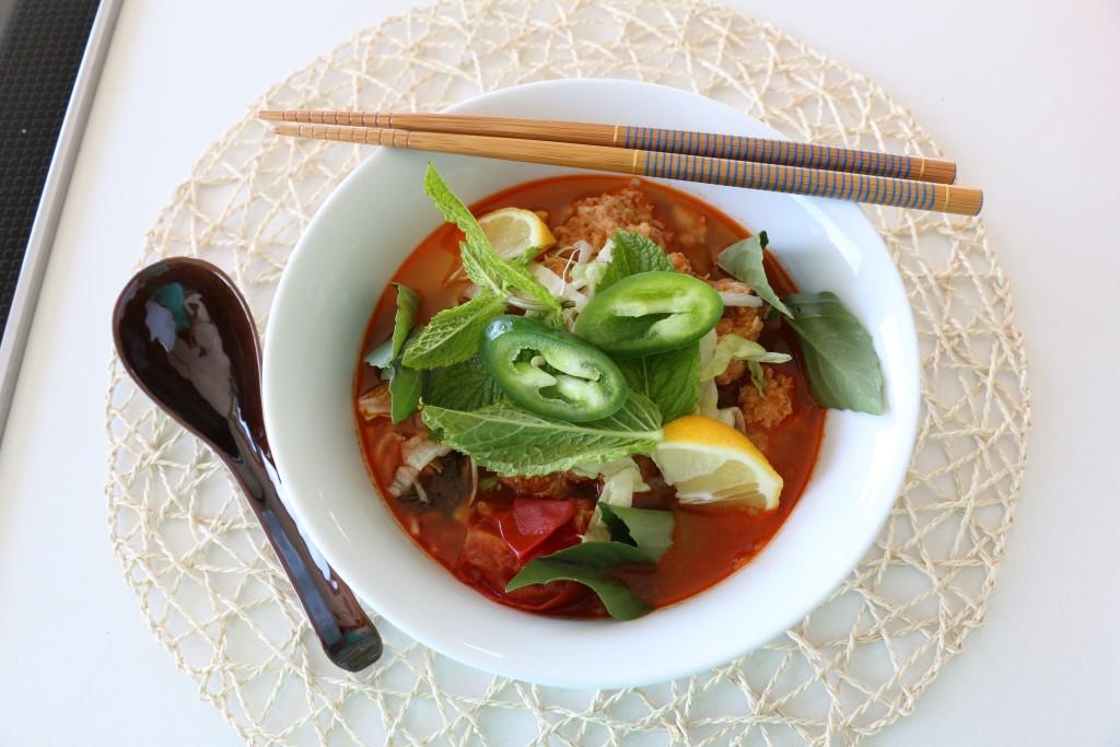 Bun Rieu: Crab Tomato Pho